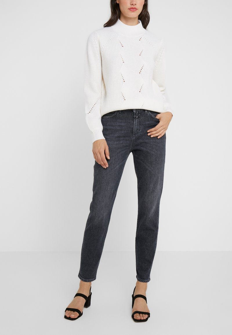 CLOSED - BAKER HIGH - Džíny Slim Fit - dark grey
