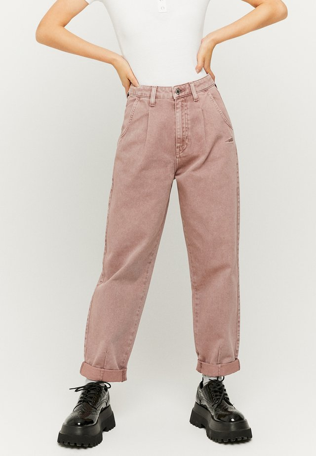 Relaxed fit jeans - beige
