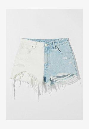 MIT RISSEN - Denim shorts - white