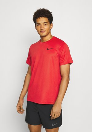 Basic T-shirt - team red/university red heather/black