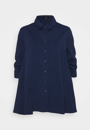 BENITA FASHIONABLE BLOUSE - Button-down blouse - navy blue