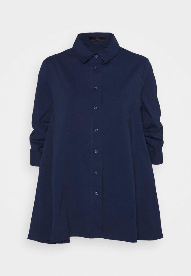 BENITA FASHIONABLE BLOUSE - Button-down blouse - navy blue