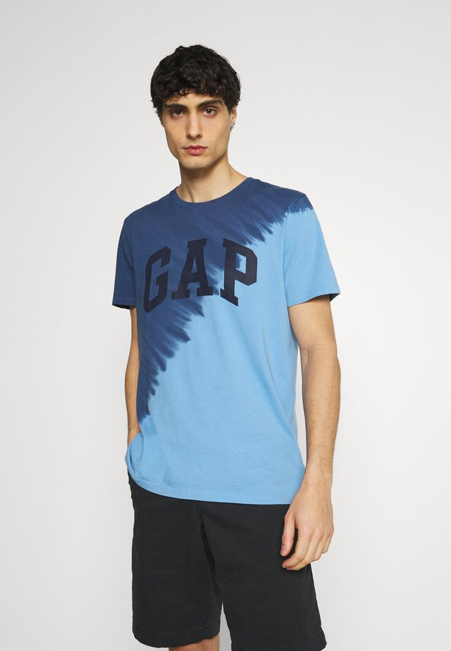 LOGO - T-shirt z nadrukiem - blue