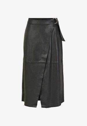 YASMORA - Wrap skirt - black
