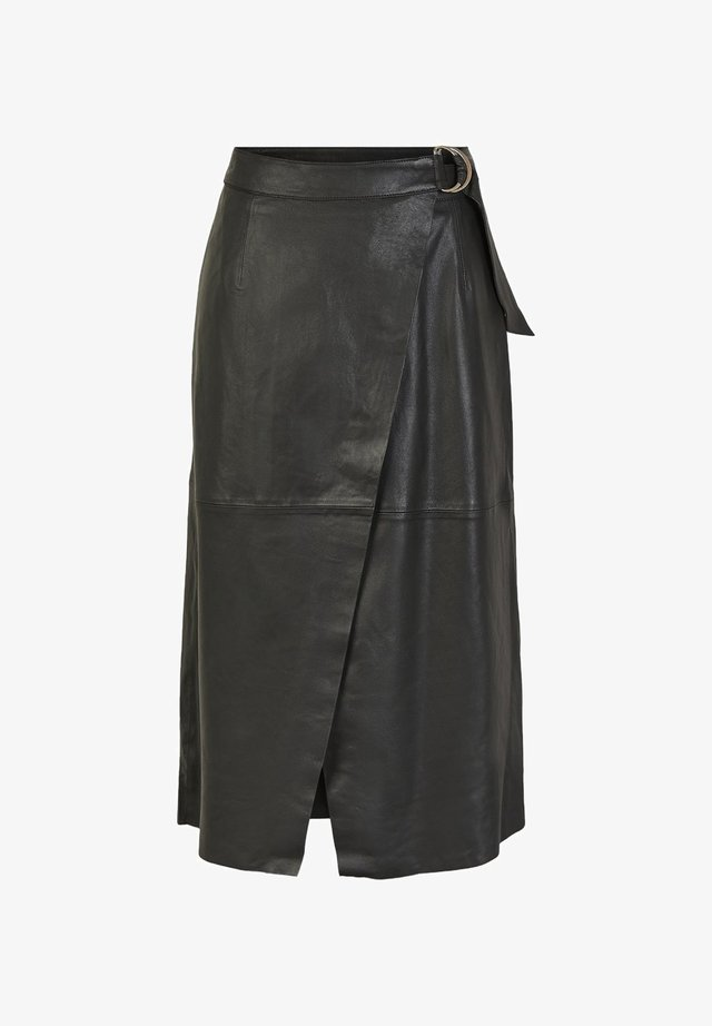 YASMORA - Wrap skirt - black