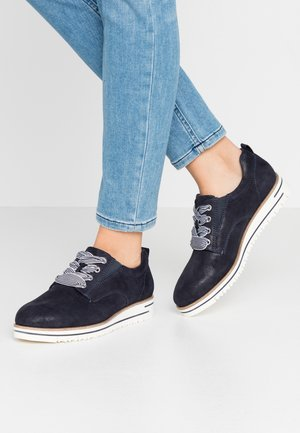 WOMS LACE-UP - Casual lace-ups - navy