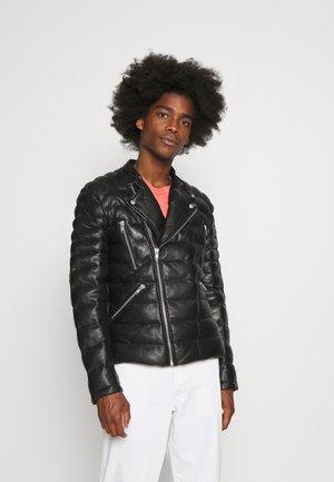 GLADIATOR DOUDOUNE - Leather jacket - black