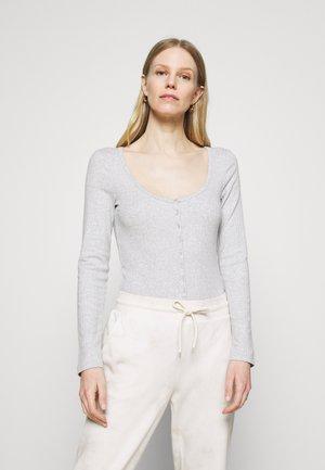 HENLEY BODYSUIT - Long sleeved top - light heather grey