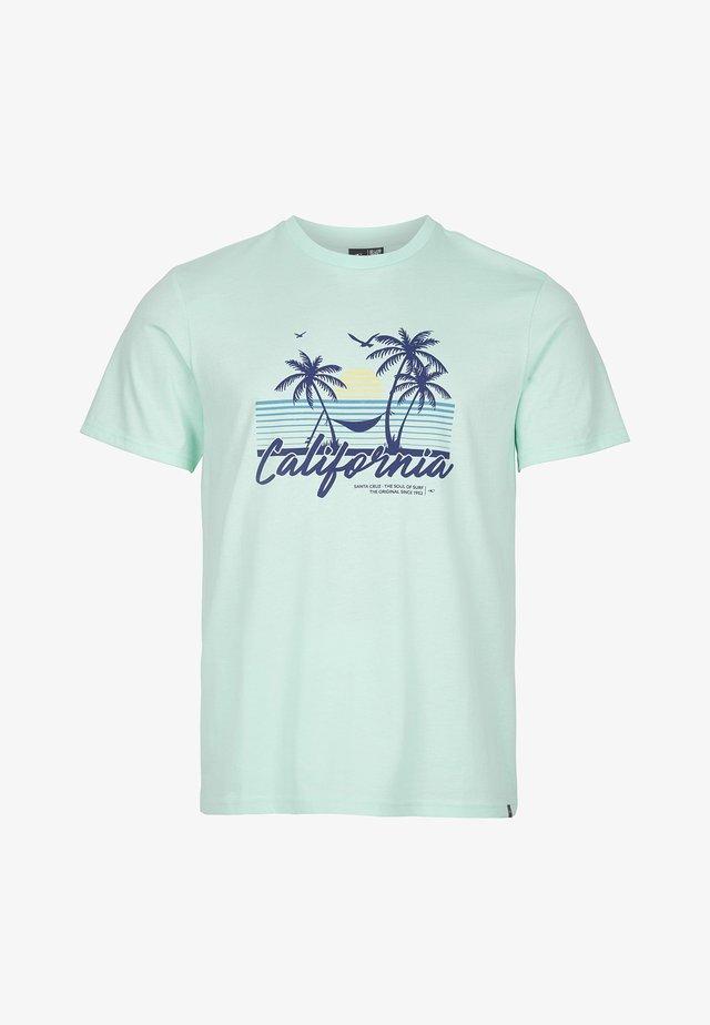 CALIFORNIA BEACH - T-shirt print - bluelight