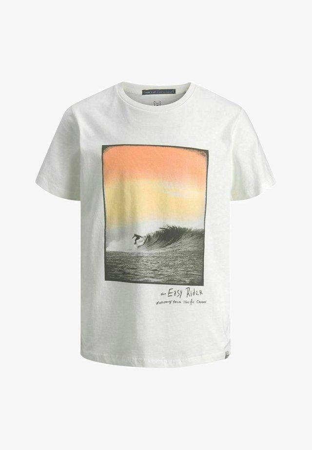 T-shirt med print - cloud dancer