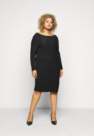 CARDARY GLITTER KNEE DRESS - Cocktail dress / Party dress - black