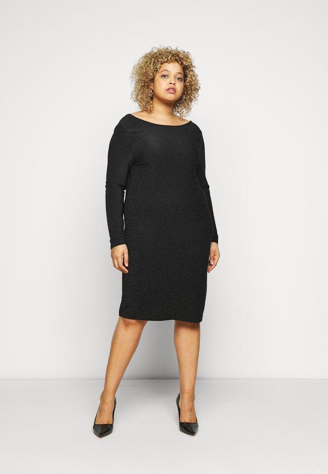 CARDARY GLITTER KNEE DRESS - Koktejlové šaty/ šaty na párty - black