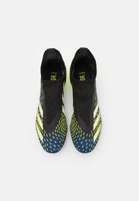 adidas Performance - PREDATOR FREAK .3 FG - Tekonurmikengät - core black/footwear white/solar yellow - 3