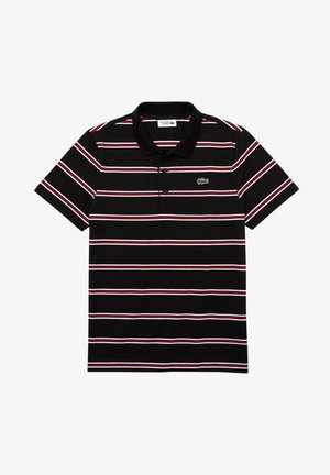 STRIPED - Polo - black/white-red-white