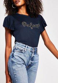 River Island - Print T-shirt - blue - 0