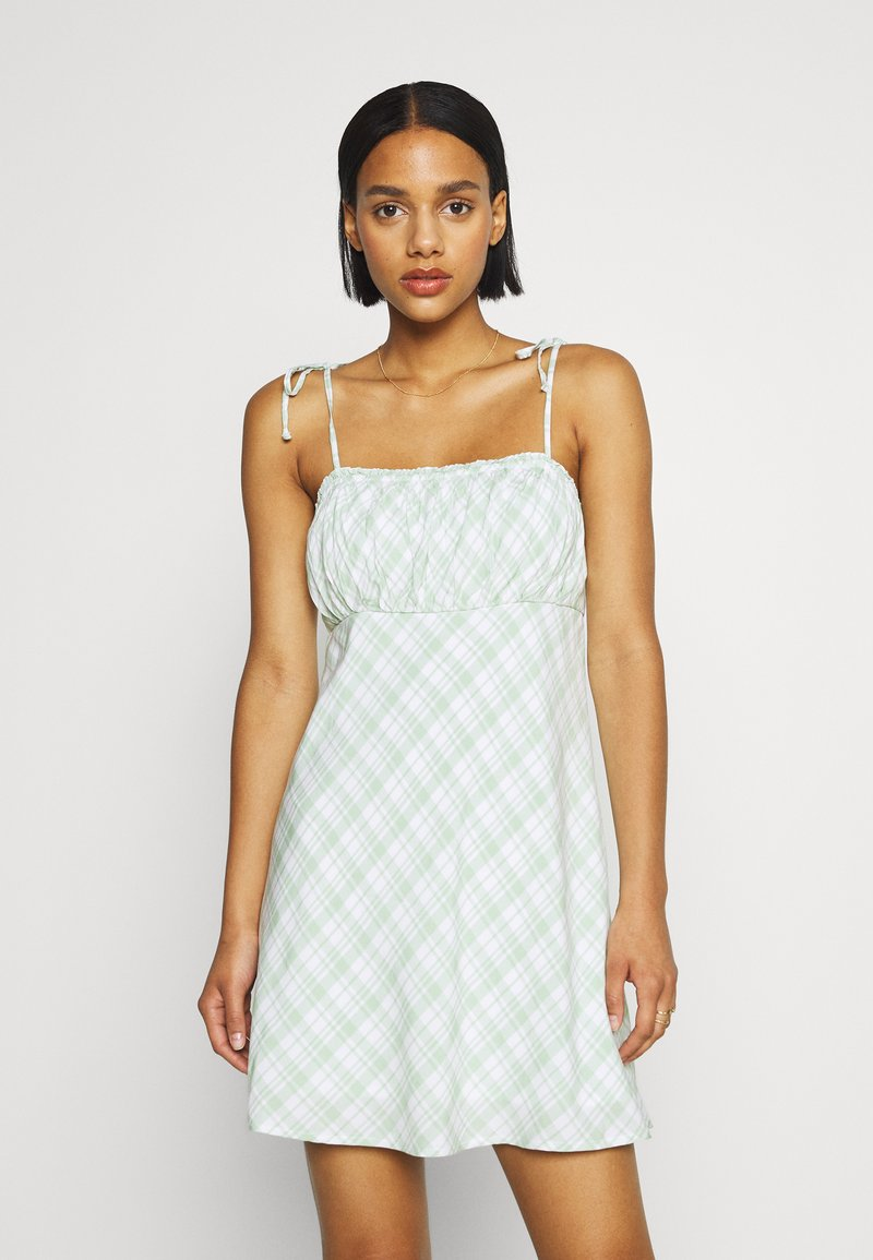 Hollister Co. - RUCHED TIE STRAP DRESS  - Kjole - green