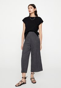 PULL&BEAR - Trousers - dark grey - 1
