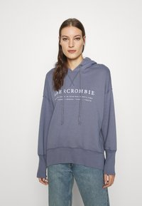 Abercrombie & Fitch - LOGO POPOVER - Hoodie - blue - 0