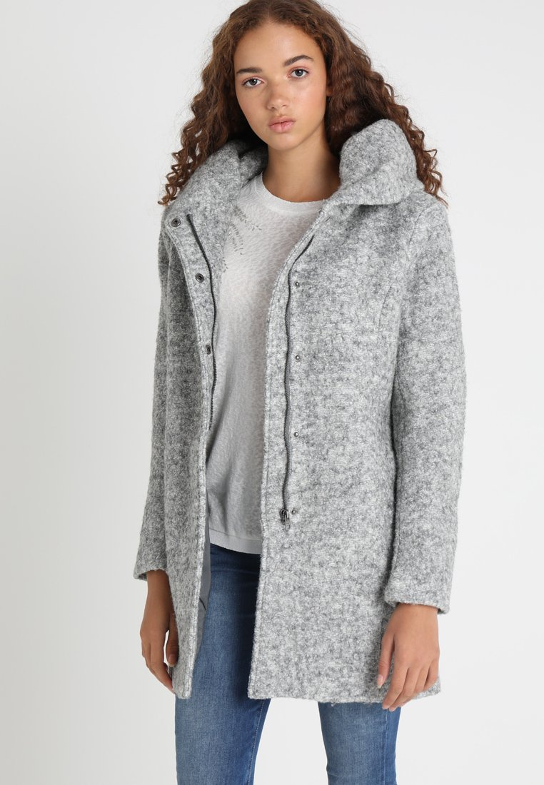 ONLY - ONLSEDONA COAT - Kurzmantel - light grey melange