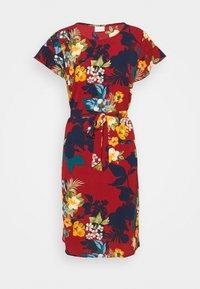 Vila - VIDIANA FLOUNCE DRESS - Robe d'été - winetasting - 4