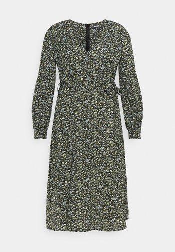 V NECK MIDAXI DRESS FLORAL - Robe d'été - black