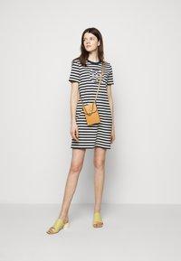 Tory Burch - LOGO DRESS - Jersey dress - tory navy/new ivory - 1