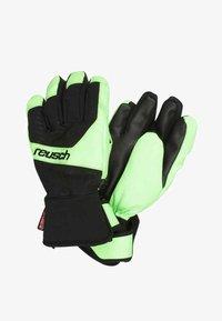 Reusch - TORBENIUS R-TEX JUNIOR - Guanti - black/neon green - 0
