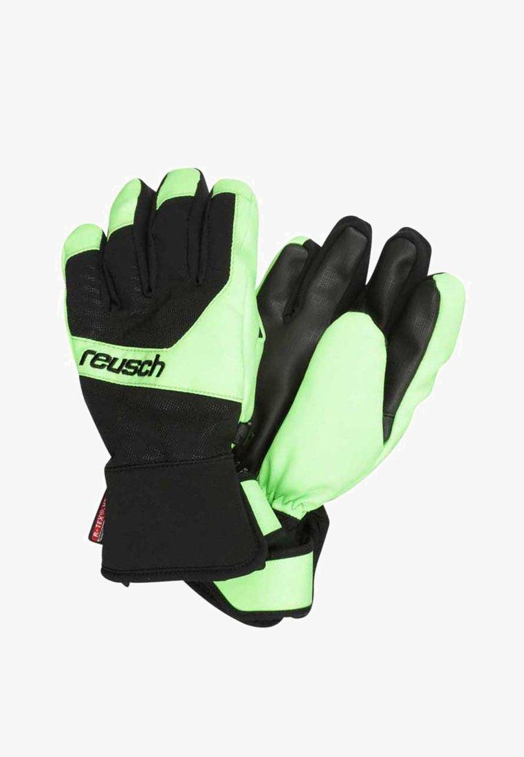 Reusch - TORBENIUS R-TEX JUNIOR - Guanti - black/neon green
