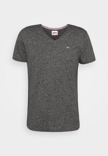 SLIM JASPE V NECK - T-shirt basic - black