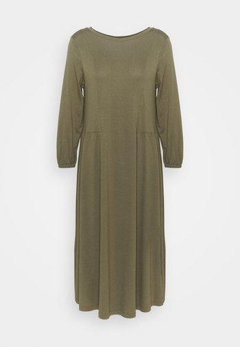 Sukienka z dżerseju - khaki green