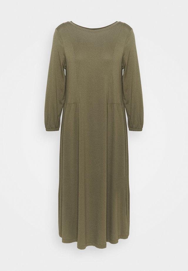 Žerzejové šaty - khaki green