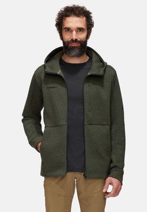 Zip-up hoodie - dark iguana melange