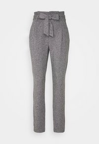 Vero Moda - VMEVA LOOSE PAPERBAG PANT - Bukse - medium grey melange/salt/ pepper - 3