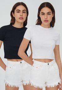 PULL&BEAR - 2 PACK - T-Shirt basic - black - 0