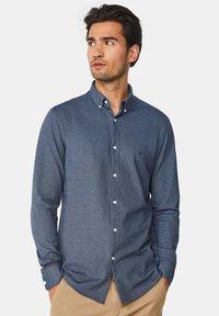 WE Fashion - SLIM FIT - Camicia - dark blue - 0