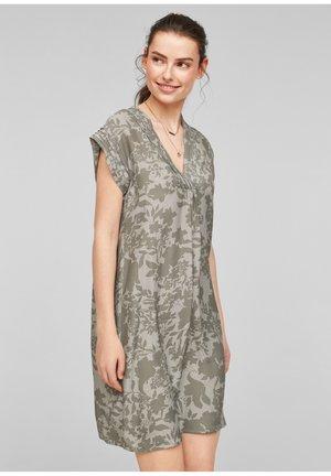 Day dress - khaki aop