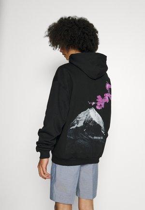 FLOWER MOUNTAIN HOODIE UNISEX - Luvtröja - black