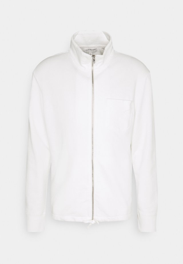 ZIP TERRY CARDIGAN - Zip-up hoodie - white