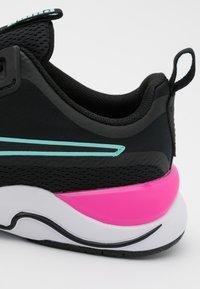 Puma - ZONE XT - Sports shoes - black/white/luminous pink/aruba blue - 5