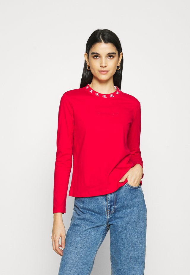 LOGO TRIM TEE - Long sleeved top - red hot