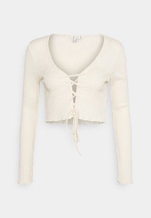 CARDIGAN - Strickjacke - creme