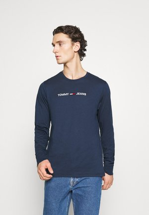 TJM LONGSLEEVE STRAIGHT LOGO TEE - Long sleeved top - twilight navy