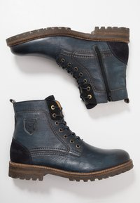 Pantofola d'Oro - PONZANO UOMO HIGH - Lace-up ankle boots - dress blues - 1