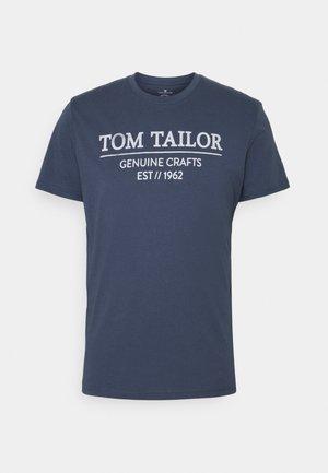T-shirt con stampa - light indigo blue