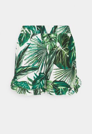 ONLNOVA LIFE FRILL - Shorts - offwhite/multicoloured