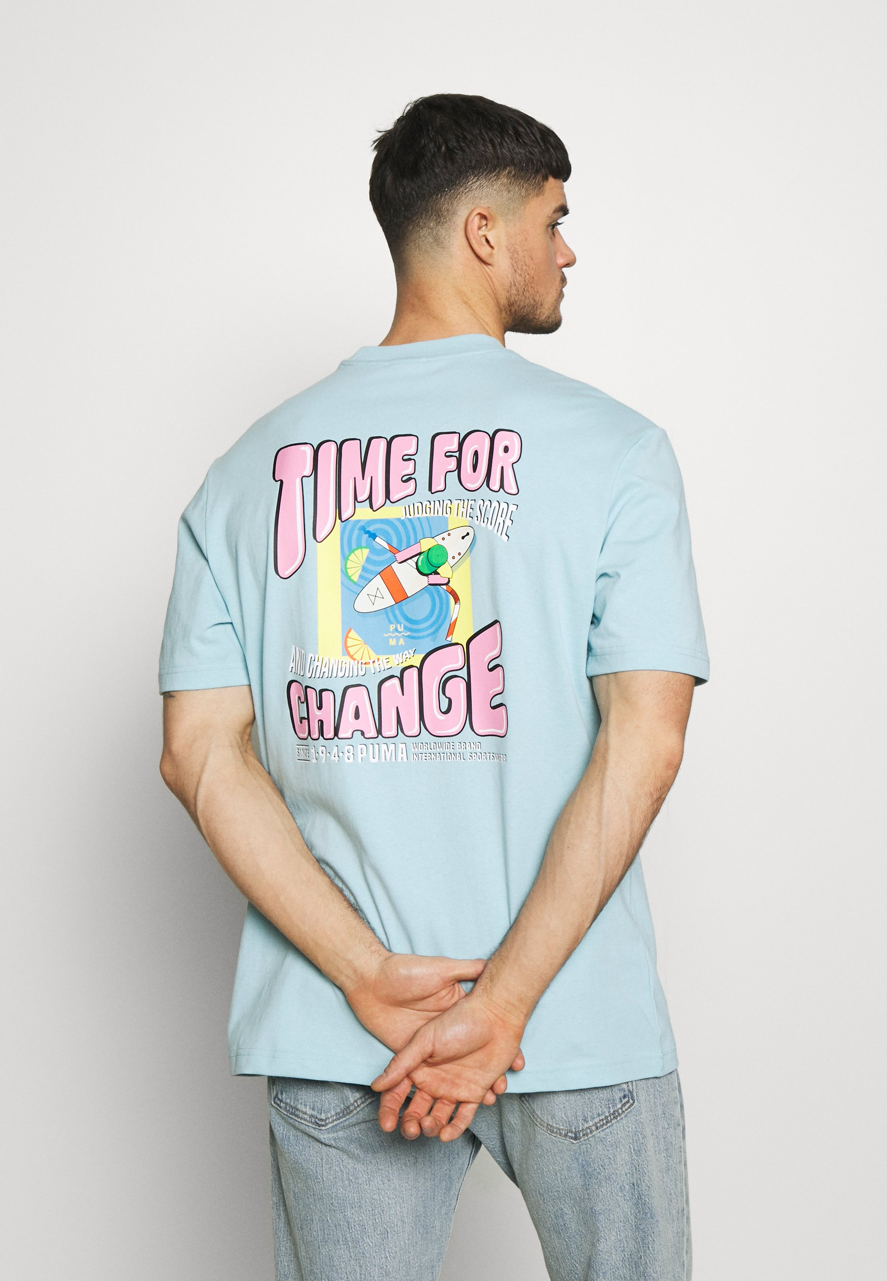 DOWNTOWN GRAPHIC TEE T Shirt print aquamarine