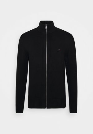 CHUNKY ZIP THROUGH - Cardigan - black