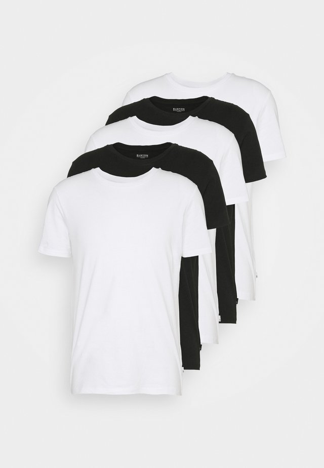 SHORT SLEEVE CREW  5 PACK - T-shirt basic - white/black