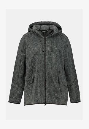 DAMEN GROSSE GRÖSSEN - Zip-up hoodie - schwarz