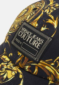 Versace Jeans Couture - BASEBALL WITH CENTRAL SEWING UNISEX - Pet - nero/oro - 3